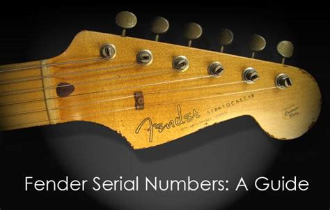 Fender Instruments Serial Number Dating Guide | The Music Zoo
