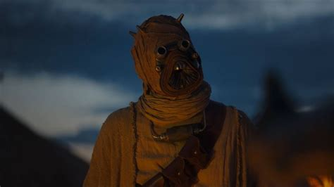 What do Tusken Raiders look like without masks?