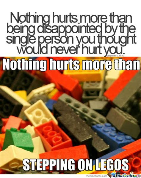 Nothing Hurts More Than Stepping On Legos by ananasmislav