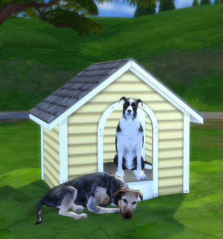 2 to 4 Dog House   SimsWorkshop