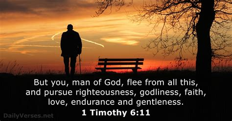 1 Timothy 6:11 - Bible verse of the day - DailyVerses