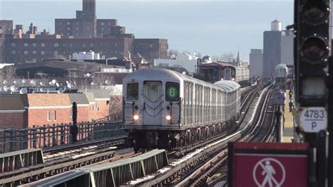 NYC Subway HD 60fps: Bombardier R62A 6 Express Trains