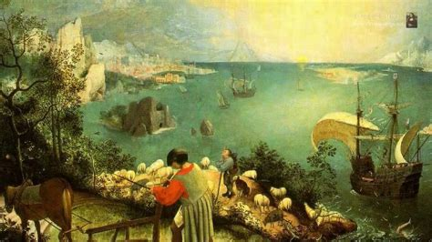 The fall of Icarus by the dutch painter Pieter Bruegel