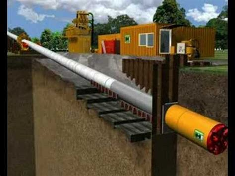 Micro-tunnelling Pipelay Technology - YouTube