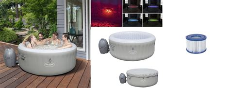 Lay-z-Spa LED Rond TAHITI 4 places + 2 cartouches type VI