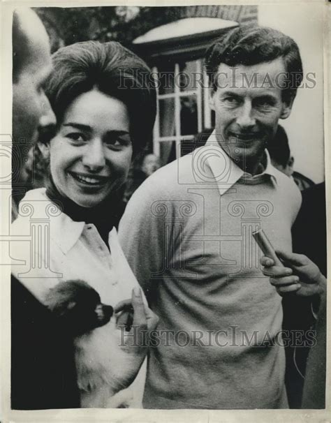 1959 Press Photo Group Captain Peter Townsend Fiancee