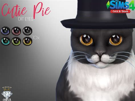 Cutie Pie Cat Eyes / CHVLR - Sims 4 Mod Download Free