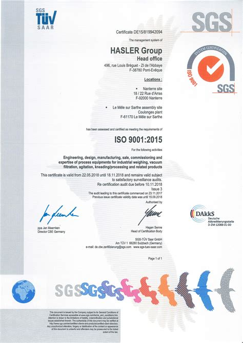 HASLER Group | ISO 9001:2008 certification