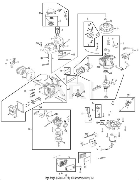 MTD 12A-26MB755 (2006) Parts Diagram for Engine Assembly